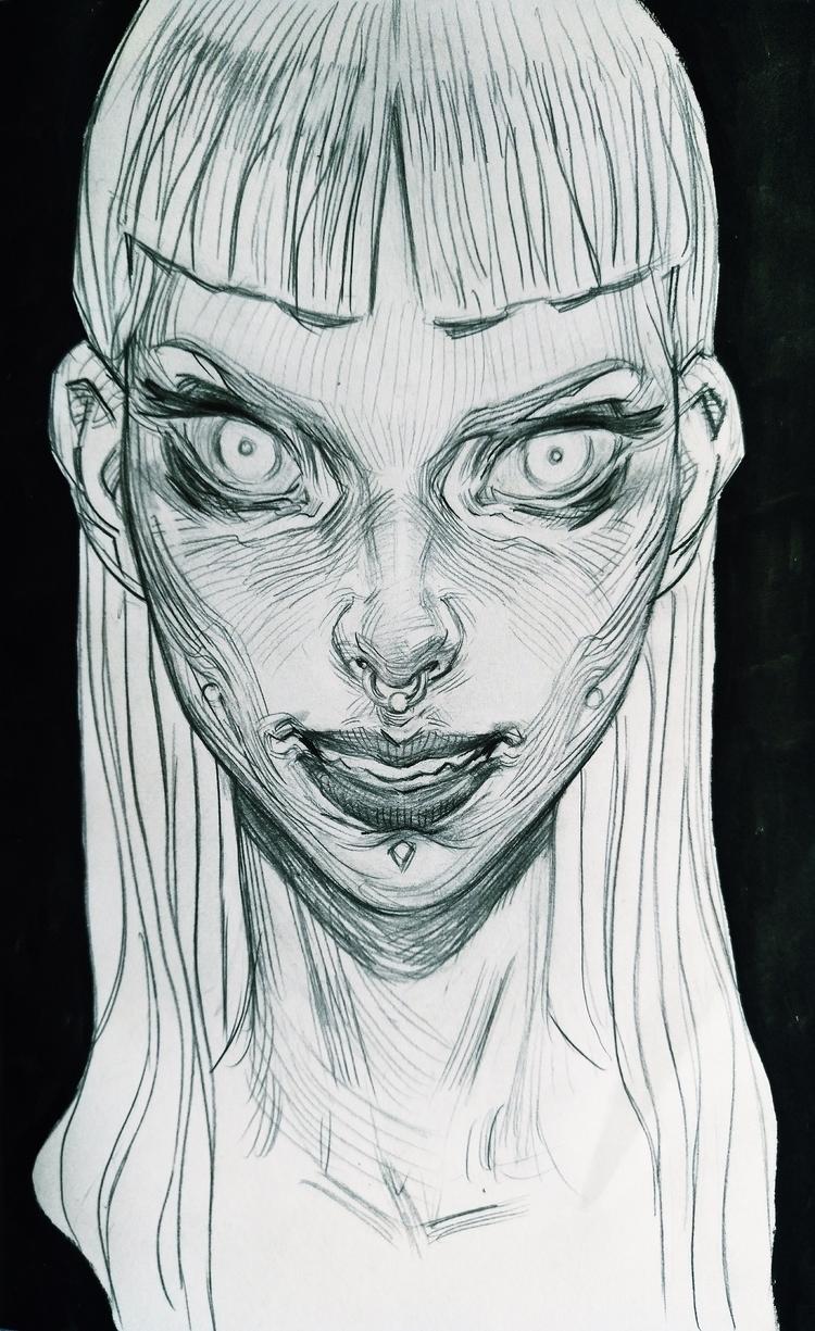 art, drawing, blackandwhite, pencil - hanukafast | ello