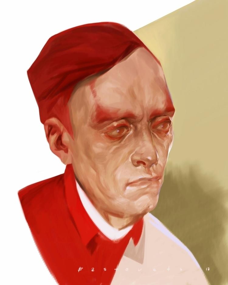 red, portrait, art, digitalart - hanukafast | ello