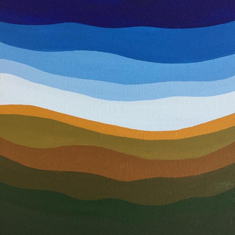 Mountains, 2017 - painting, acrylic - elmafra   ello