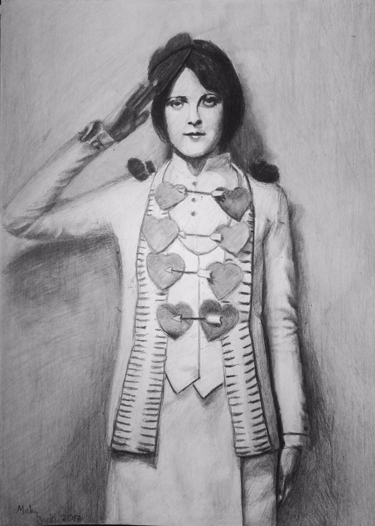 June Marlowe - drawing, sketch, sketchart - maksmj | ello
