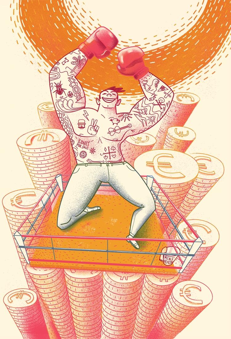 Illustration health mag Dutch e - cesdavolio | ello