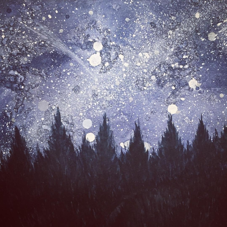 Starry night, 2016 - watercolor - elmafra   ello