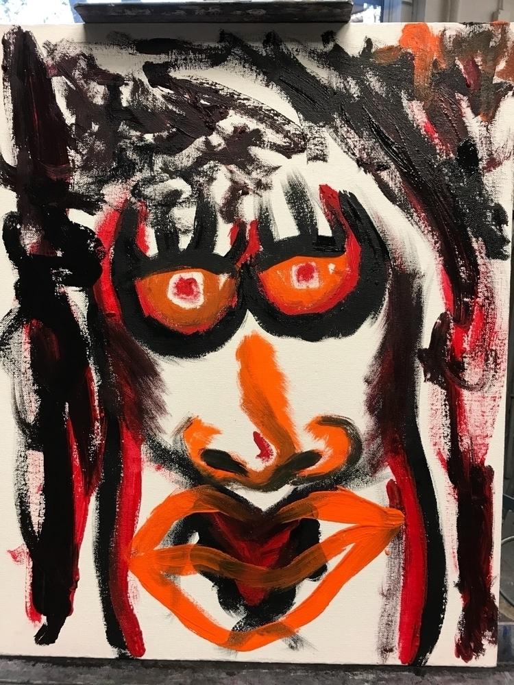 """Stop 16x20 Acrylic canvas pain - trudgingroses | ello"