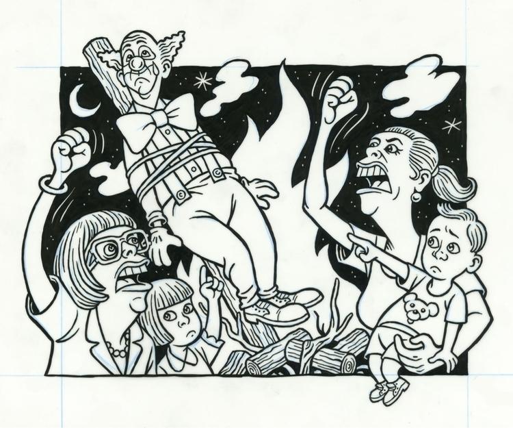 Moms Clown, illo NYPress, 5/4/9 - dannyhellman | ello
