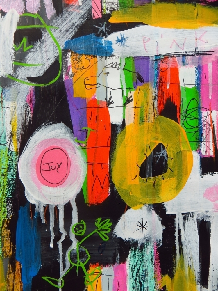 Finding joy - art, painting, mixedmedia - chareststudios   ello