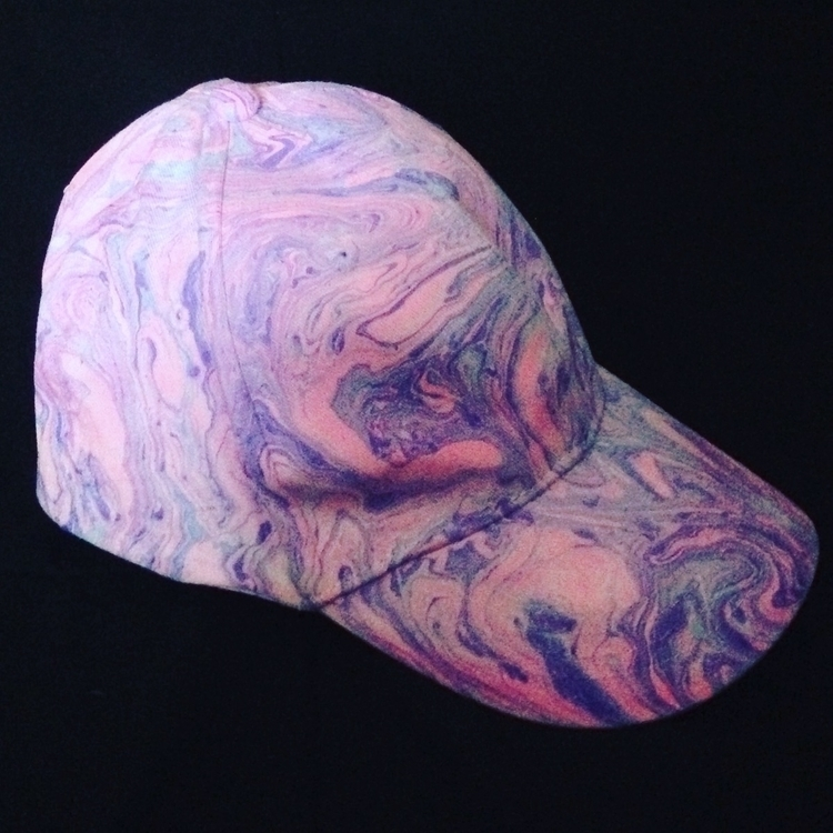 Pink purple marbled hat. $10 $7 - thathatstudio | ello