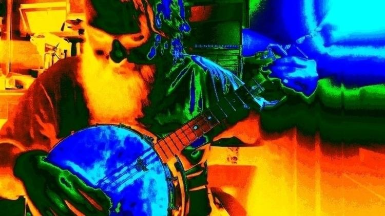 banjo, tenor, vintage, photoedit - grunkthebard | ello
