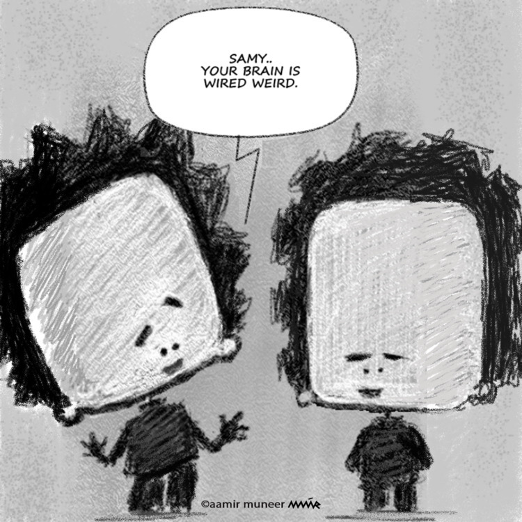 Wired weird. comic - art, artwork - wizebunny | ello