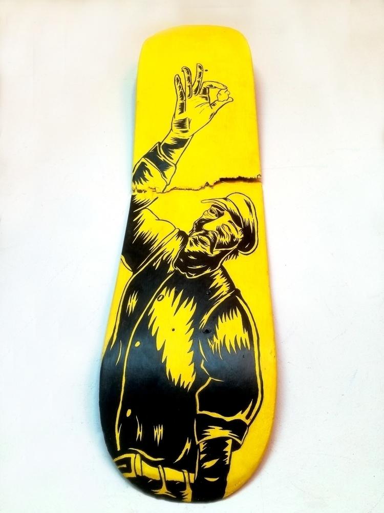 Repained board - illustration, ink - barrytimmer   ello