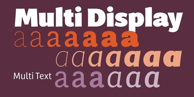 Multi versatile sans serif type - laurameseguer | ello