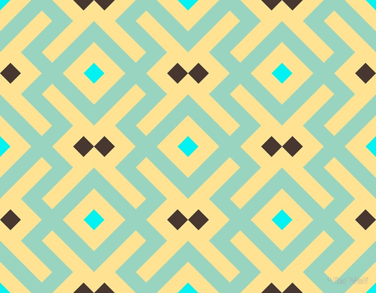 Geometric Pattern: Diamond Delt - red_wolf | ello