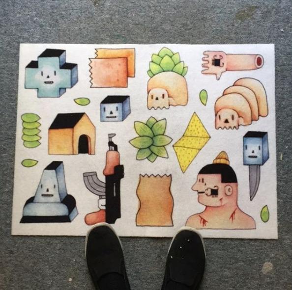 Door mat design collab company  - bascofive | ello