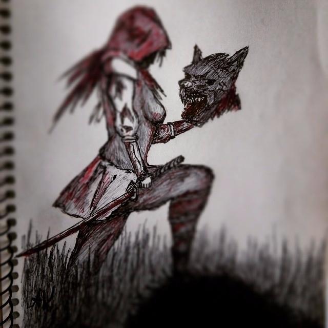 sketch - art, redhood, drawing - alakeys | ello