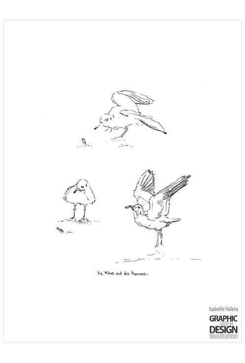 Die Möve und die Pommes - illustration - ivalera | ello