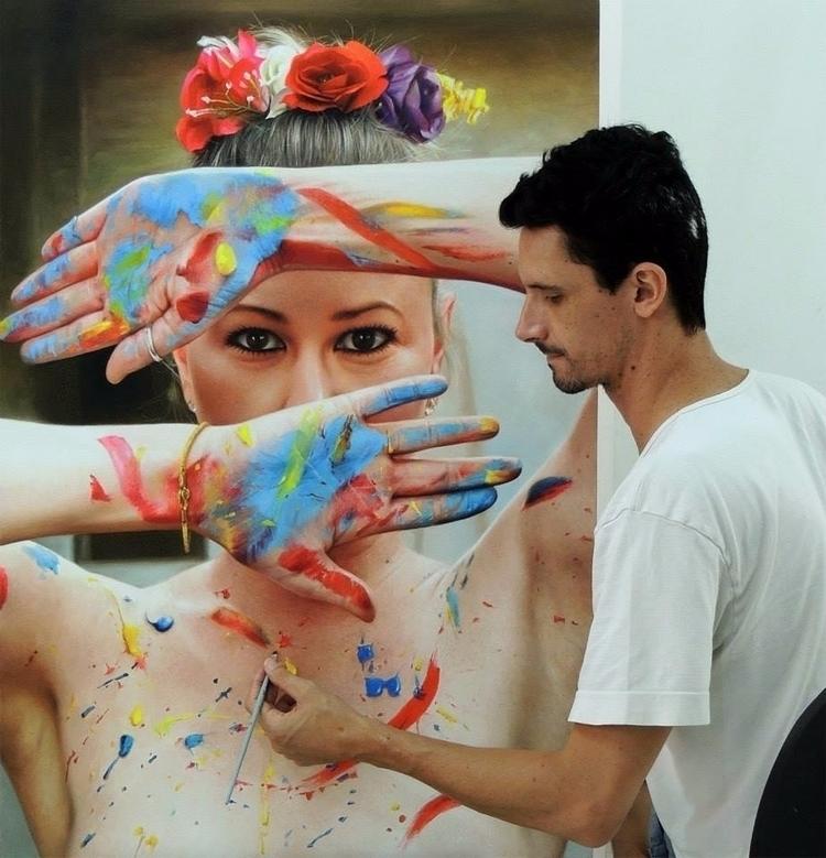 Pintura óleo sobre tela 80x120c - fabianomillani | ello