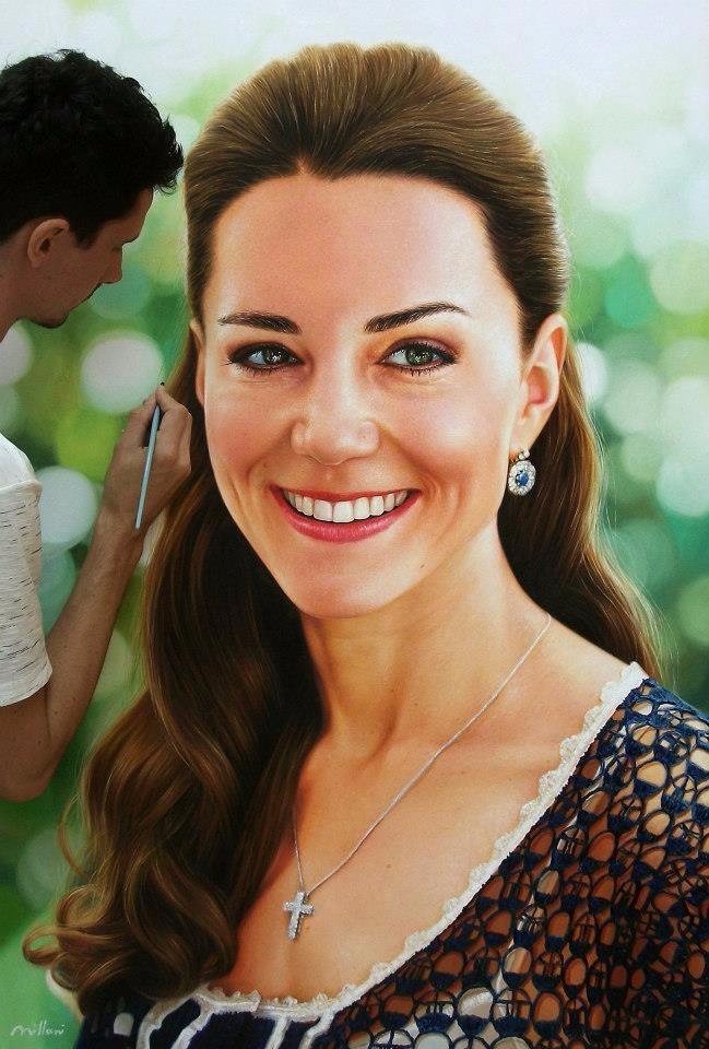 Princesa Kate - pintura óleo so - fabianomillani | ello