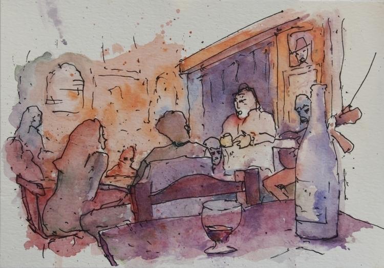 Los duendes Watercolor paper. 2 - agustinp | ello