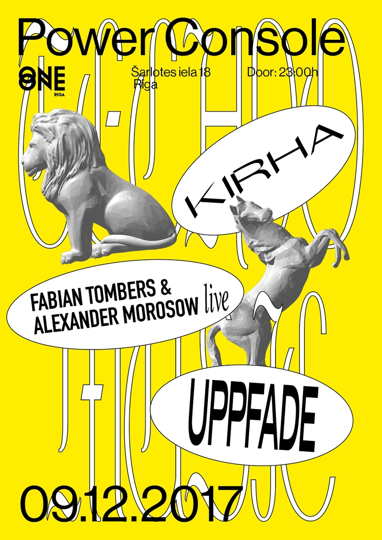 Poster upcomming gig Riga! chec - fabiantombers | ello