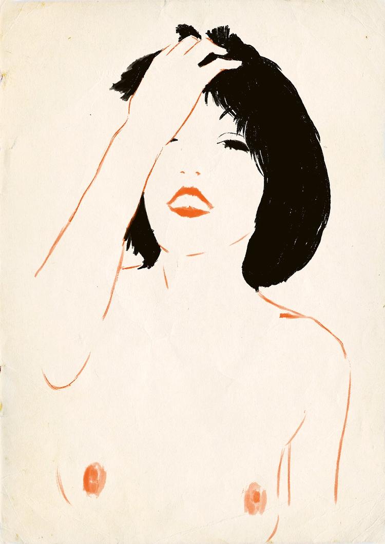 Tribute Rene Gruau - illustration - zoe_vadim | ello