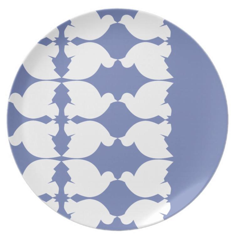 Lovebirds / Melamine - Plate - petro5va5iadi5 | ello