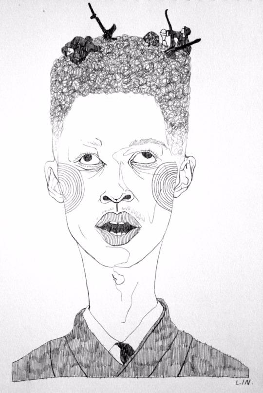 illustration, art, drawing, portrait - linsshit | ello