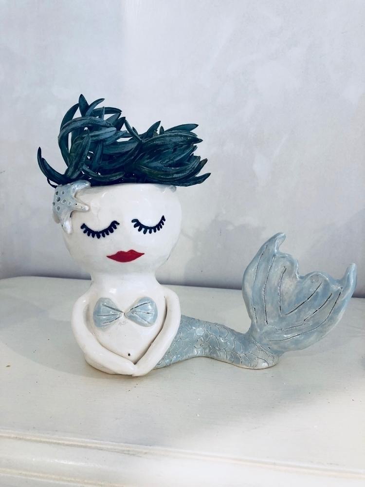 Wind swept hair - mermaid, ceramics - livingdecortwins | ello