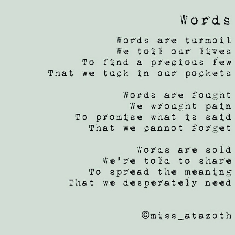 Words - selling! buy poems, per - missatazoth | ello
