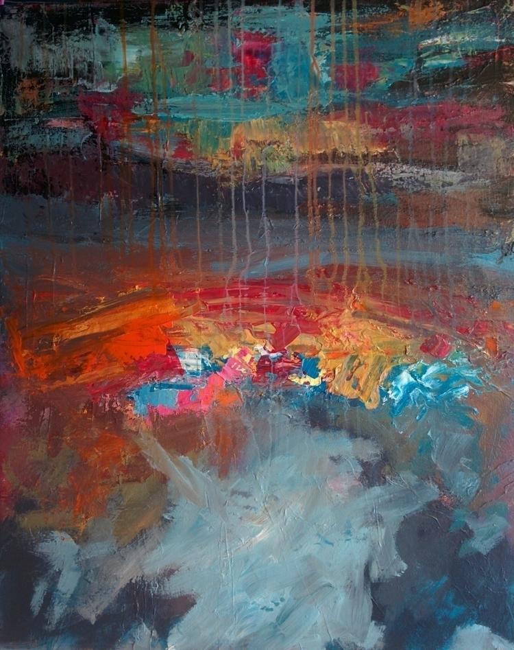 upside - acrylics, canvas#landscape - jotzomakas | ello