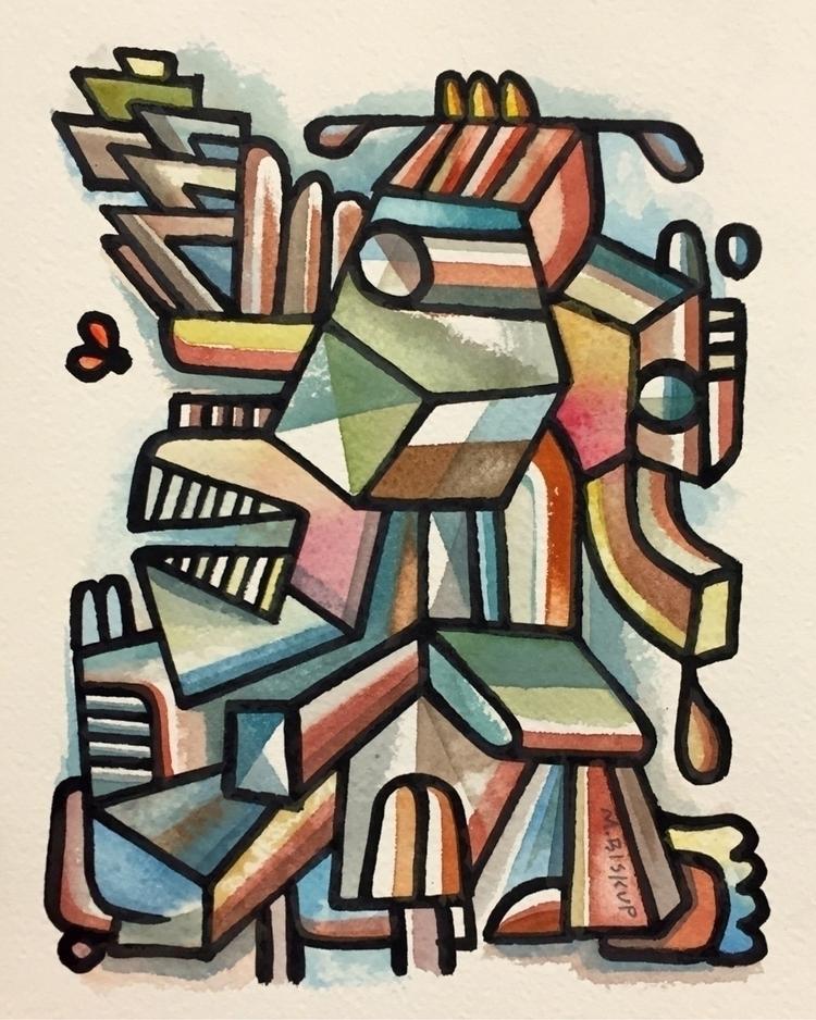 Zola Gorgon, watercolor India I - mikebiskup | ello