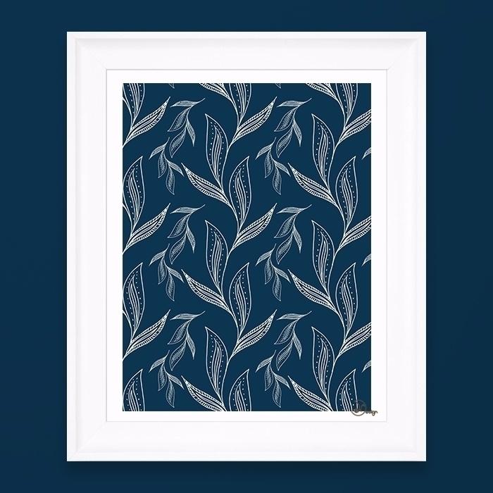 Indigo Foliage Delicate, infigo - designdn | ello