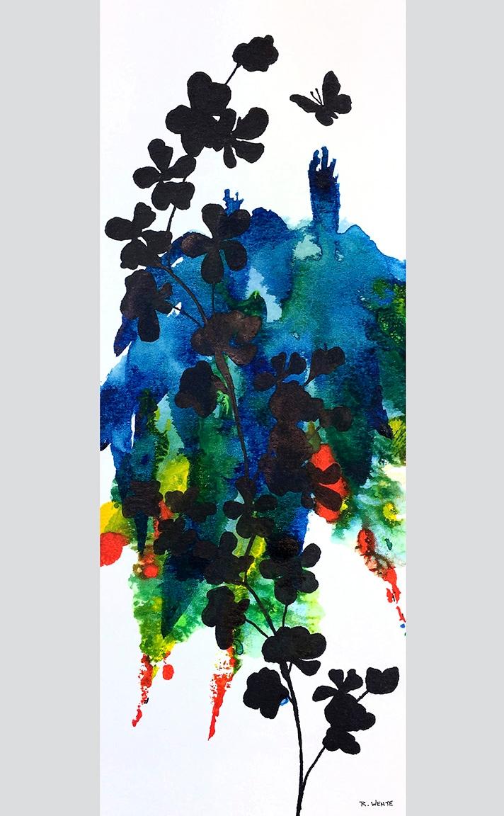 Rhythmic Flitting ink - watercolor - robert_wente | ello