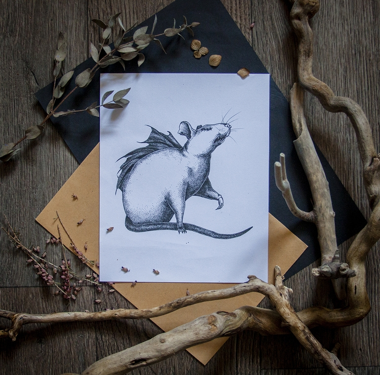 blind rat - creature, rats, witchcraft - dustyburrow | ello