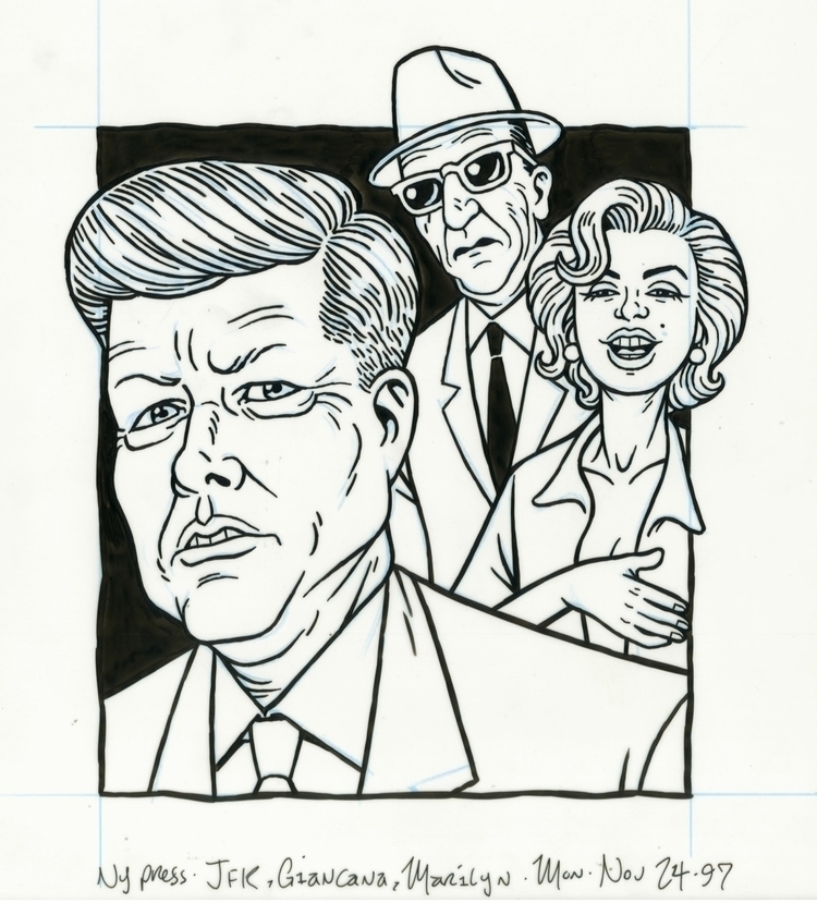 John Kennedy, Sam Giancana Mari - dannyhellman | ello
