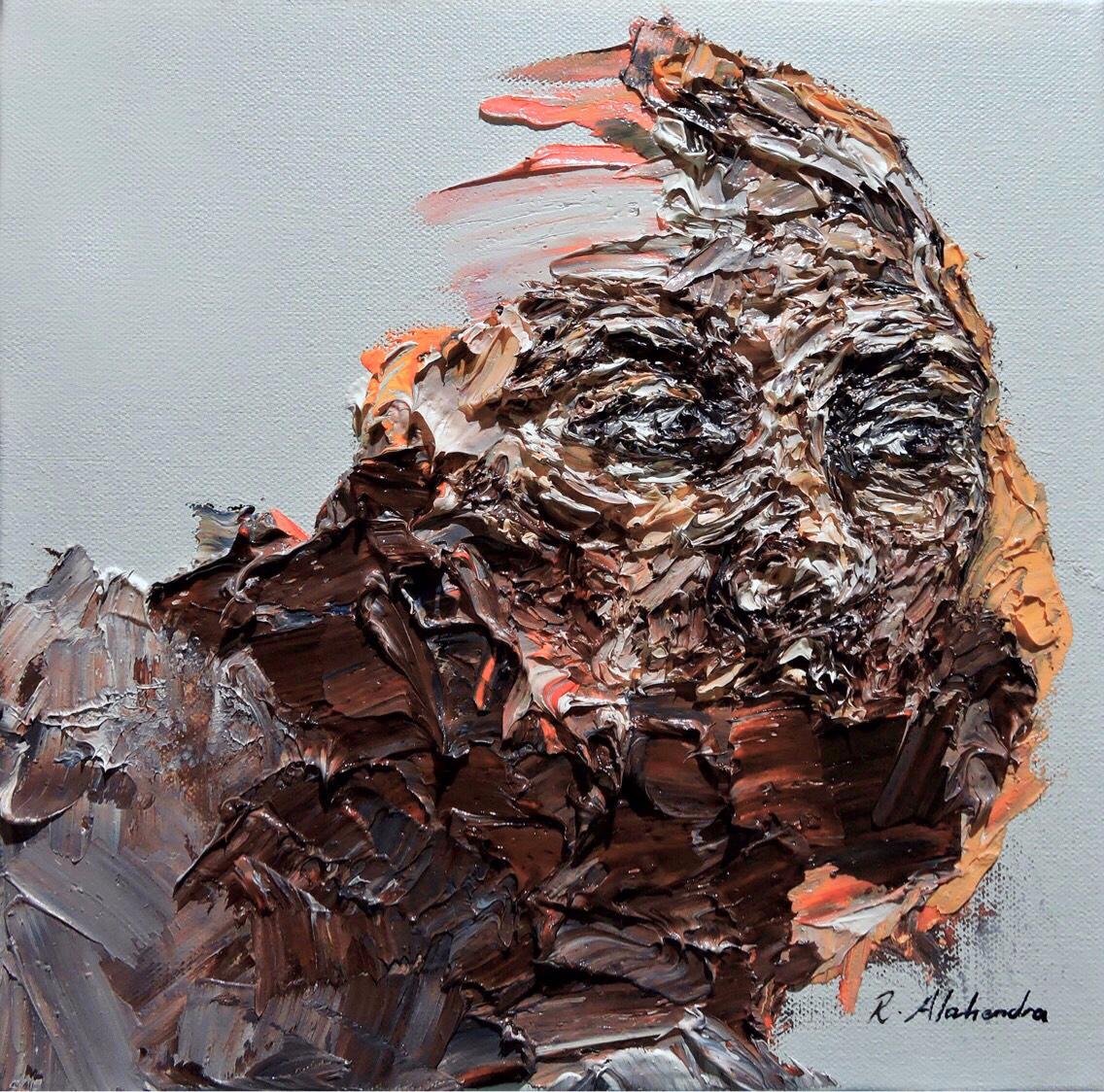 'Longing'. Oil Canvas - art, painting - alahendra | ello