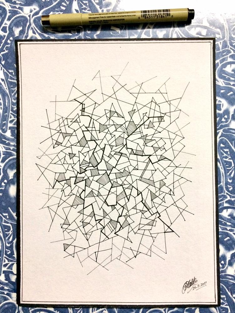 Shattered - Doodle, Ink - rakeshmalik91 | ello