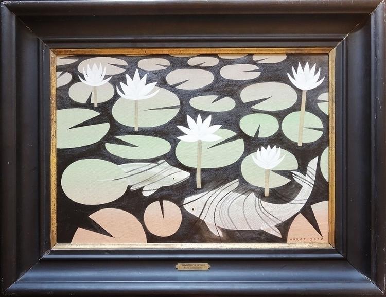 FISH POND acrylic laquer canvas - maja_hurst | ello