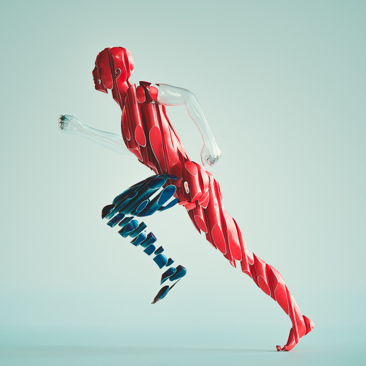 [BOLT - 3d, cinema4d, run, sport - themandesigns | ello