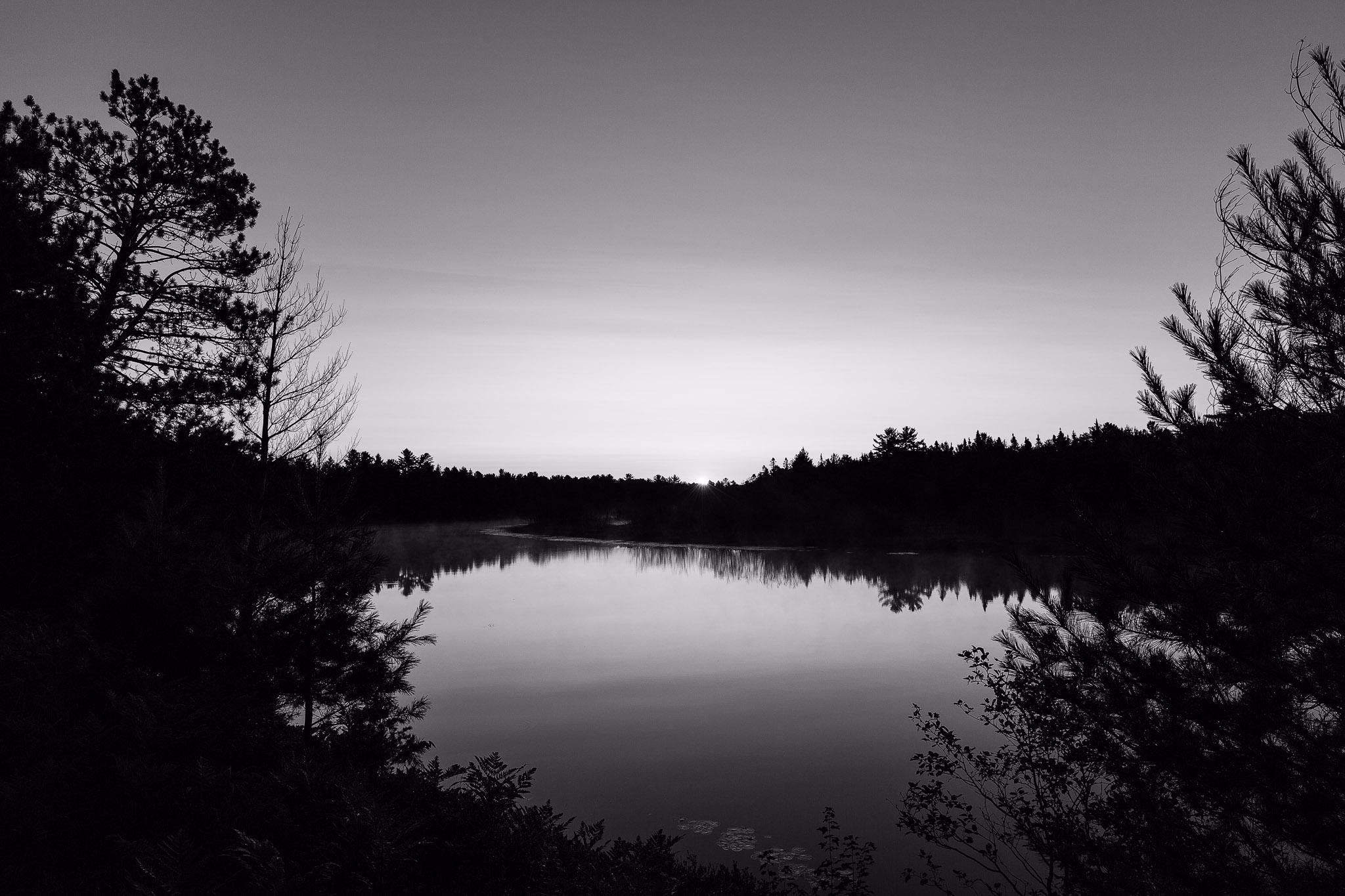 Tahquamenon River sunrise monoc - terryhumphrey | ello
