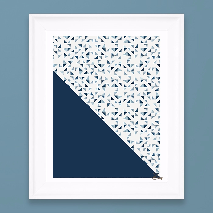 Indigo Triangles Composition in - designdn | ello