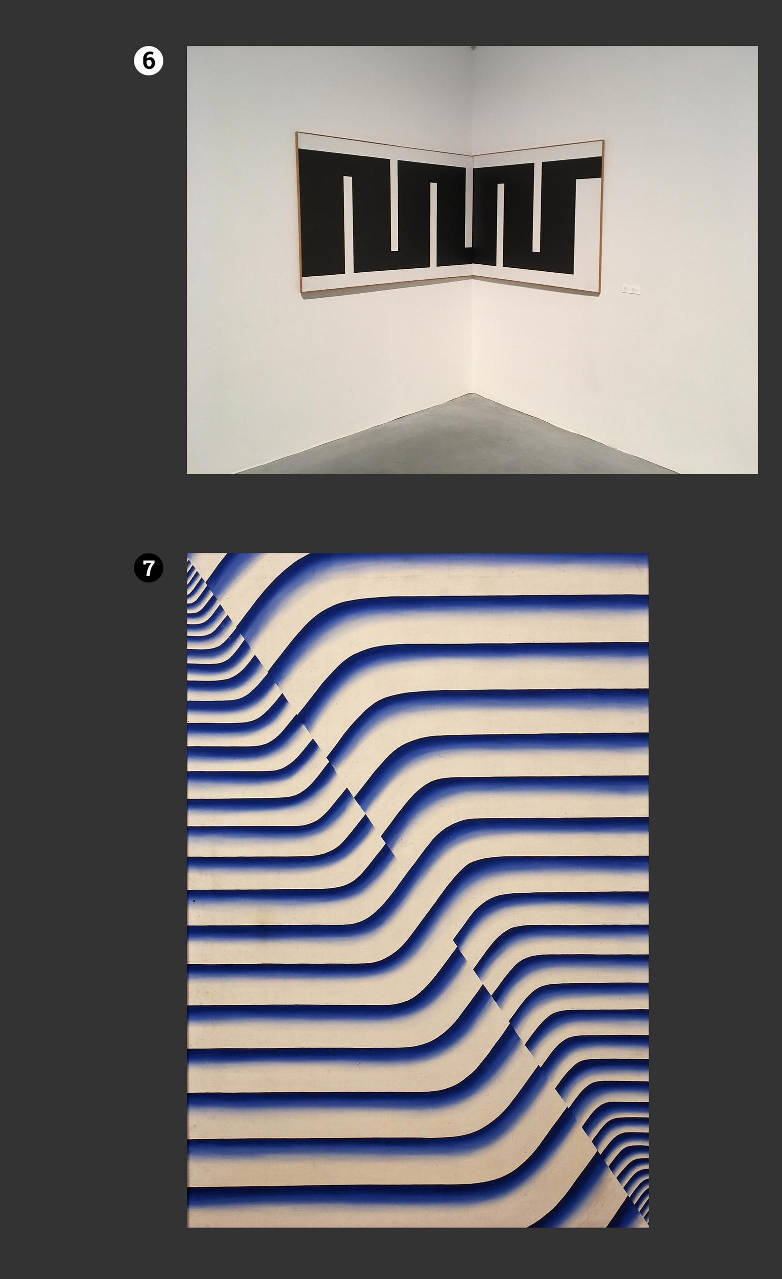Obraz przedstawia fotografie dwóch obrazów znanych artystów. Wszystko na ciemno-szarym tle.