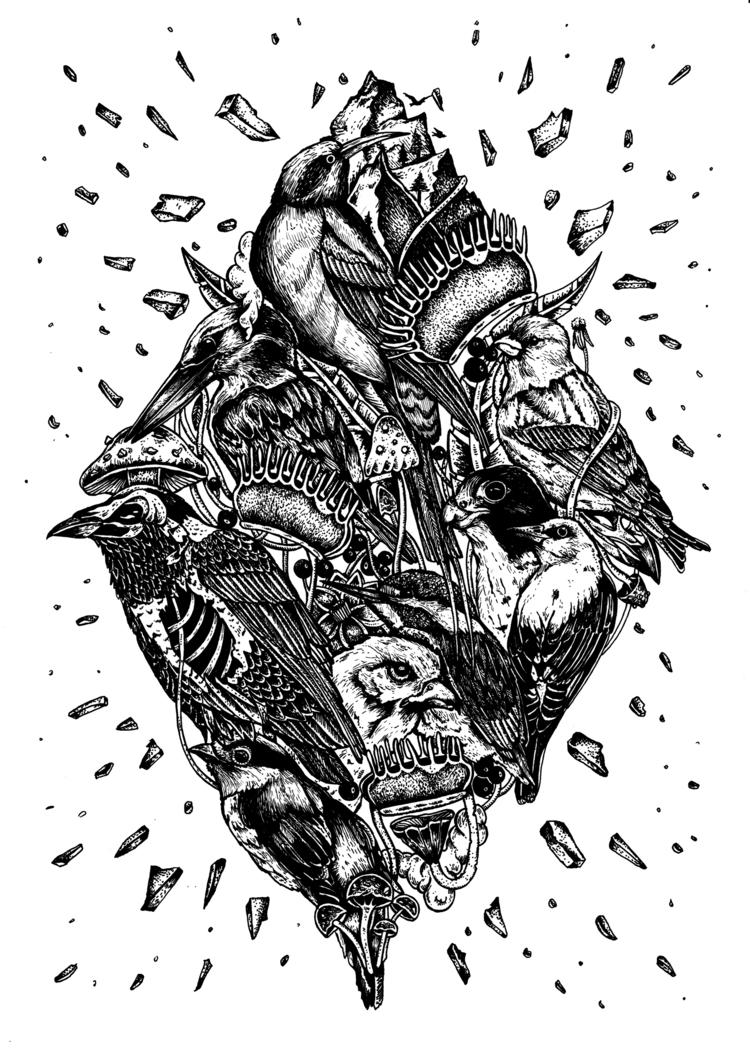 BIRDS // Artwork Wanna Portfoli - freshmilkart | ello