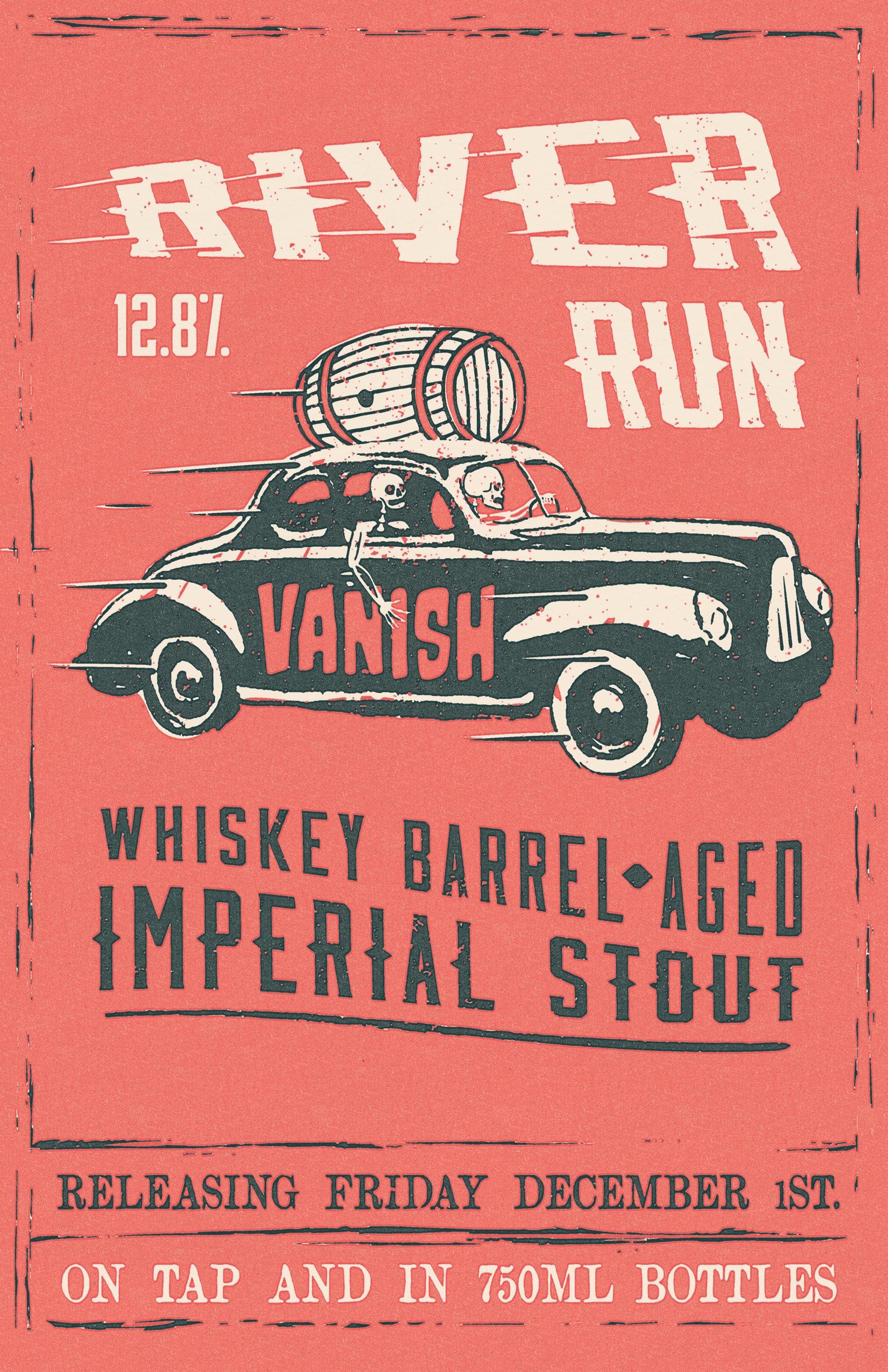beer release poster - skeleton, illustration - bryanbaltz | ello