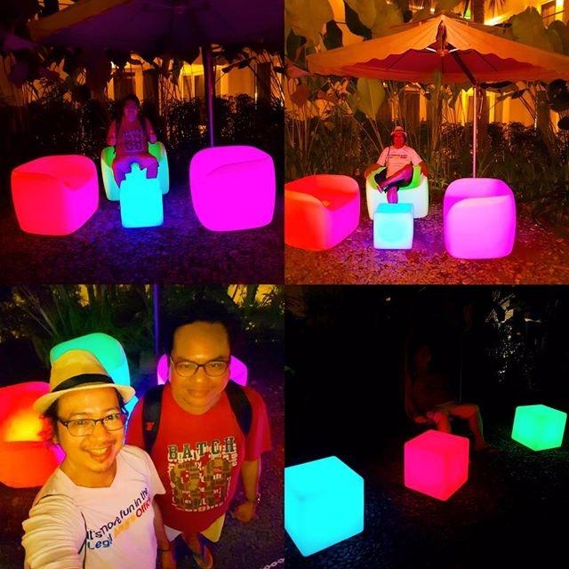 funky neon-lighted outdoor sofa - vicsimon   ello