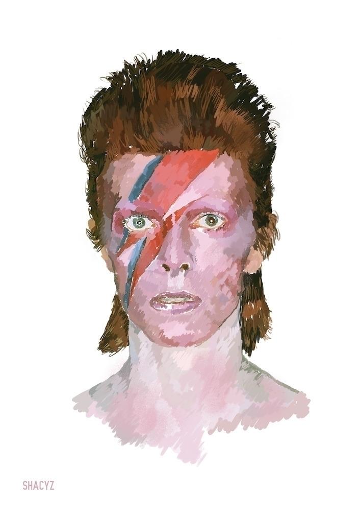 heroes day:zap:️David Bowie - shacyz | ello
