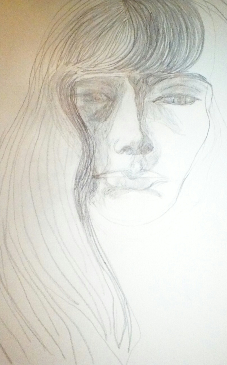 Portrait Pencil Drawing - kathryn_savino   ello