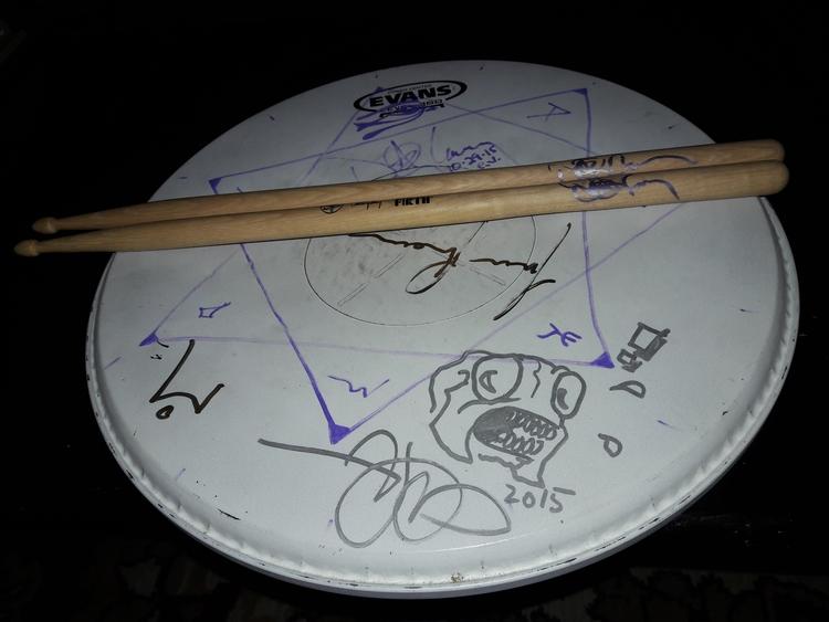 Tool autographed drumhead monst - artkollecter | ello