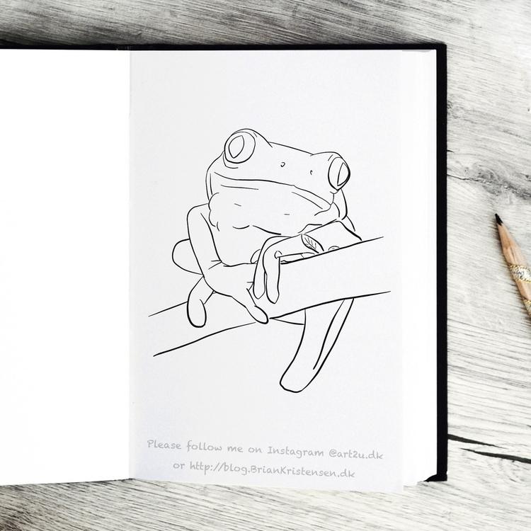 Drawing - frog - art2u | ello