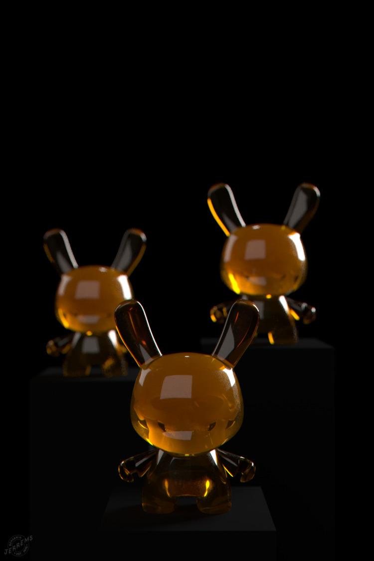'Honey Dunny'  - kidrobot, dunny - bengaminjerrems   ello