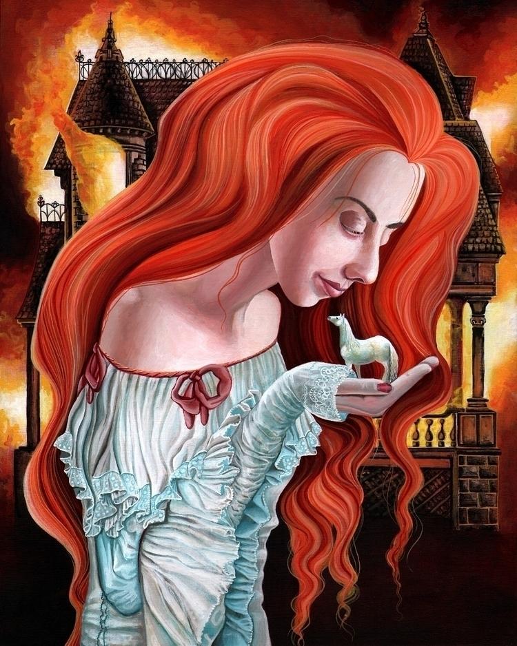Red Head 11x14 - acrylicpainting - adeline_lamarre | ello