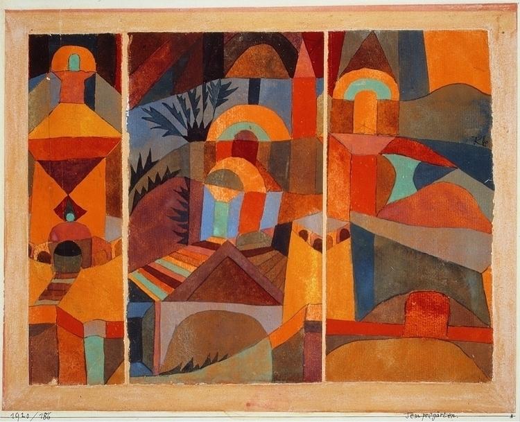 Temple Gardens Paul Klee 1920 - klee - bitfactory | ello